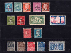 France 1931 – Selection of 16 stamps – between Yvert 246 and 277