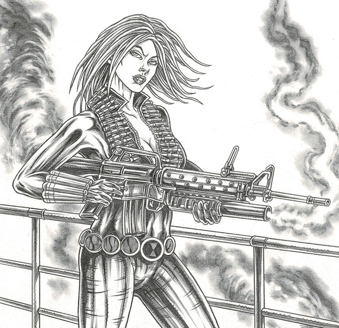 Alice Resident Evil Original Drawing Ratera Mike Catawiki
