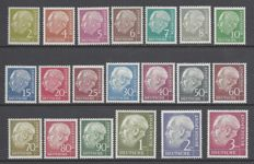 Germany  1953  - Thedore Heuss set - Yvert 62A/72B