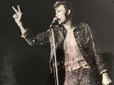 Tony Frank (1945-) - Johnny Hallyday, Palais des sports à Paris, 1971