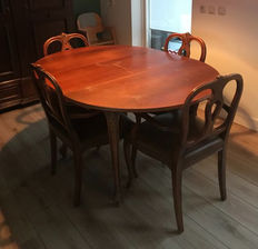Dining room table and chairs, Netherlands, ca. 1940