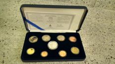 Finland - Euro coin set 2002 with silver medal