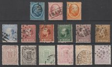 The Netherlands, 1864/1871 - King Willem III and national coat of arms - NVPH 4/6, 7/12, 13/18