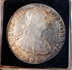 Spain - Carlos IV (1788-1808) - 8 Reales 1802 mint of Potosi PP - Silver