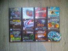 Lot of 12 PlayStation One games, some rare - Syphon Filter 1 & 2, Ninja Shadow of Darkness, Gran Turismo 2
