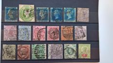 Europe 1841/1911 - 14 stock cards with classic stamps.