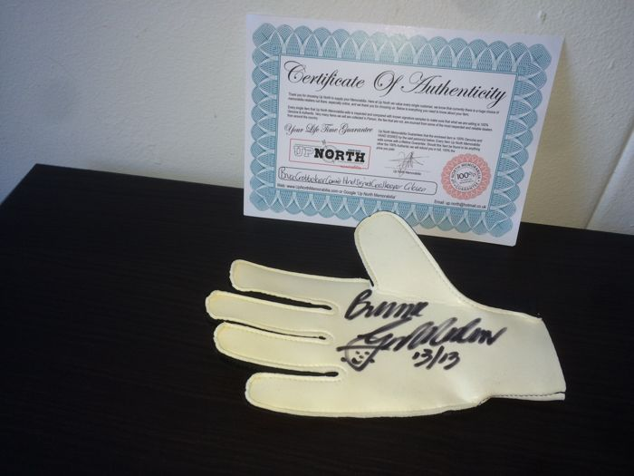 Bruce Grobbelaar Signed Adidas Keepers Glove with Certificate of Authenticity