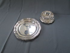 Christofle Paris - cutlery - 3 pieces plate, small dish with saucer - unused / mint