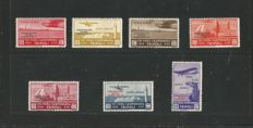 Tripolitania 1934 - 'Circuito delle Oasi' complete series of 7 stamps - Sass.  N°  S32