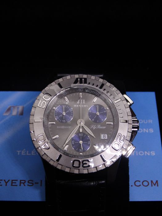 Meyers - Fly Racer Cruise Chronograph - FXD-A-GrBl-Al - Heren - 2011-heden