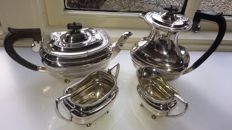 Four piece silver coffee and tea set, Sheffield, 1916