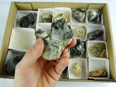 Minerals from Strzegom pegmatites - 20 specimens - max. 8,0 x 5,5 x 4,0 cm - 500 gm (20)