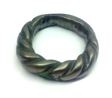 Early medieval  bronze Viking twisted ring - 18 mm, 11,41 gr