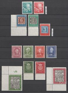 Federal Republic of Germany 1949/1951 - selection 1940s-1950s - Michel 111/115, 117/122, 139/140