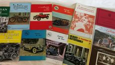 Classic car catalogues and magazines from the 1970s
