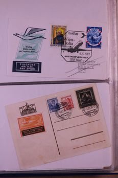 Austria and Liechtenstein 1945/1990 - Batch of covers, postal items and maximum cards in 6 albums