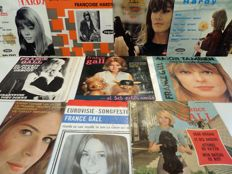 """34 Famous French Rock and Pop 7"""" Singles and EP's from the 60's: France Gall, Françoise Hardy, Johnny Halliday, Michel Polnareff, Antoine and many others."""