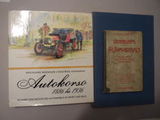 Three books German Automobile History - Grundbegriffe des Automobilismus , 1902 and Autokorso 1886 / 1936 - 1976 and Das Autobuch - 1956