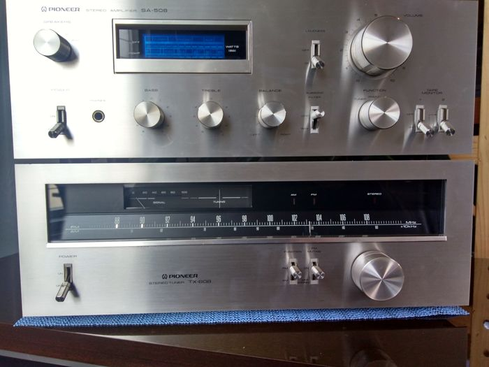 pioneer sa 508 amplifier and tx 608 tuner blue line real vintage catawiki. Black Bedroom Furniture Sets. Home Design Ideas