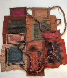 Collection of 5 Baby Carriers - Hmong - mid 20th Century