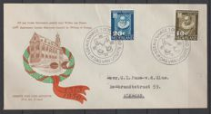 The Netherlands 1950 - FDC University of Leiden - NVPH E3, with inspection certificate