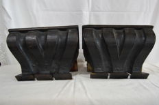 Pair of Pedastals Fully Hand Carved - 19th century