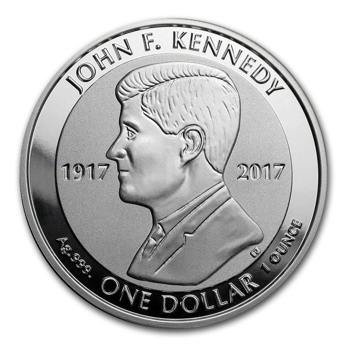 British Virgin Islands - Dollar 2017 'John F. Kennedy 100th Birthday' - 1 oz silver