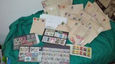 COMBO LOT: 150 first day cover issued in the 1960s + Unbelievable amount of Italian stamps from the Republic and Kingdom time periods, see description
