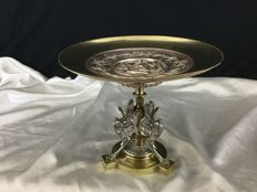 Léopold Oudry - Bowl in bronze table centrepiece - France - 19th