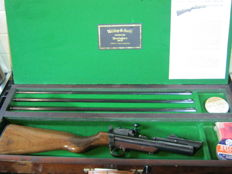 A mint Webley & Scott MK11 Service Rifle. A rare 177 22 25 with all 3 barrels  Birmingham England