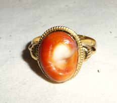 Ring - 18 kt/750 - gold - ring size 62/63 - Eye of Santa Lucia (Occhi di St. Lucia)
