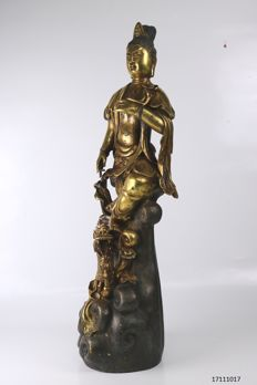 Large bronze statue of Guan yin - China - late 20th century (58 cm)