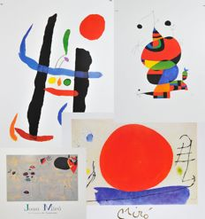 Joan Miro (1893-1983) - Various Art Graphics