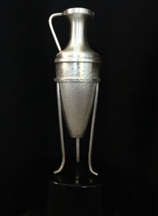 Silver decanter with holder, Greece, 1998