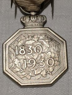 Medal for 100 years of independence Belgium - 1930