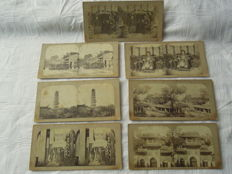 7 original stereoscopic photos, circa 1880