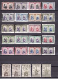 Spain 1930–1945 - Lot with 192 stamps and complete series of the 1st centennary