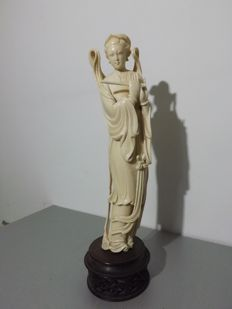 Great Immortal in ivory (30 cm) - China - circa 1920