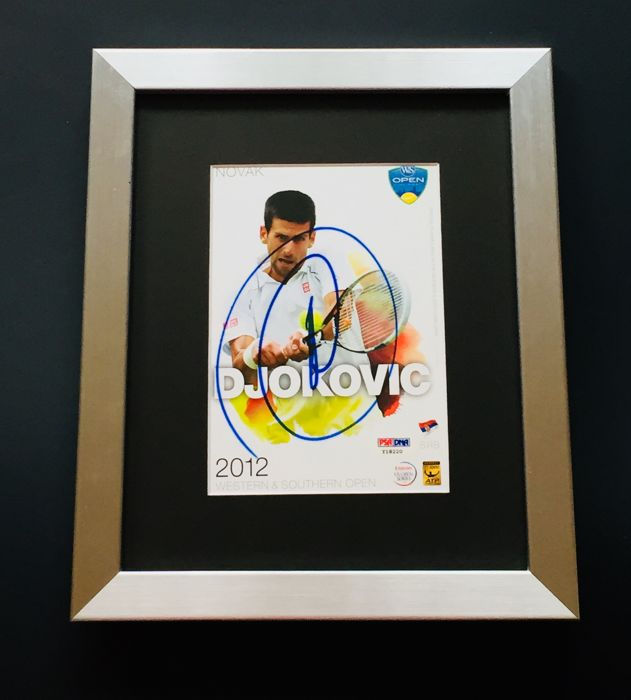 Nova Djokovic - Authentic & Original Signed Autograph in Premium Framed Photo ( 20x25cm ) - with Certificate of Authenticity PSA/DNA