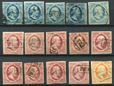 The Netherlands 1852 - Batch first issue - NVPH 1/3