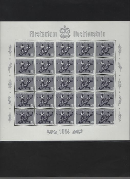 Liechtenstein 1954 - Football World Cup sheetlet with 25 pieces - Michel 322/325 (25)
