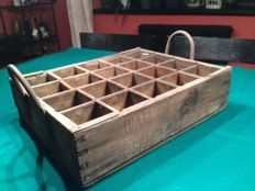 old wooden box for bottles 1940-1950