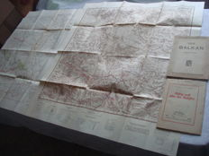 Third Reich; lot of 4 old original maps of the Balkans and Russia from 1940/1941, WWII