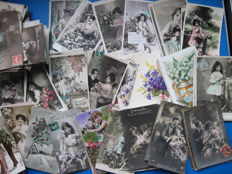Collection of 312 fantasy postcards