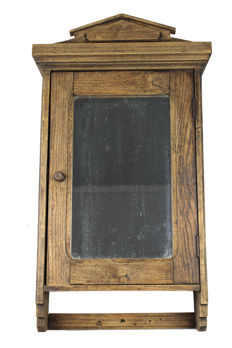 French wall cabinet with mirror, France, ca. 1900