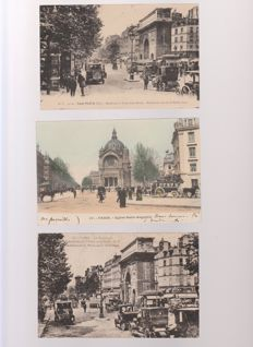 Very good lot of 70 old postcards of Paris