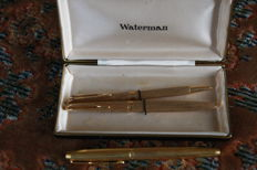 Waterman and Parker gold plated pens
