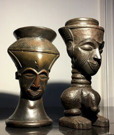 two palm wine cups - KUBA - Congo
