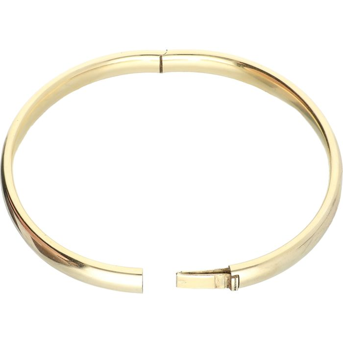 14 kt - Yellow gold bangle - Diameter: 5.5 cm