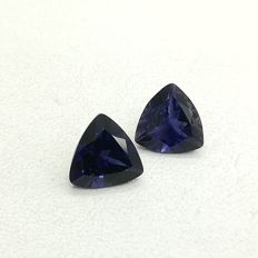Pair of lolites 3.78 ct